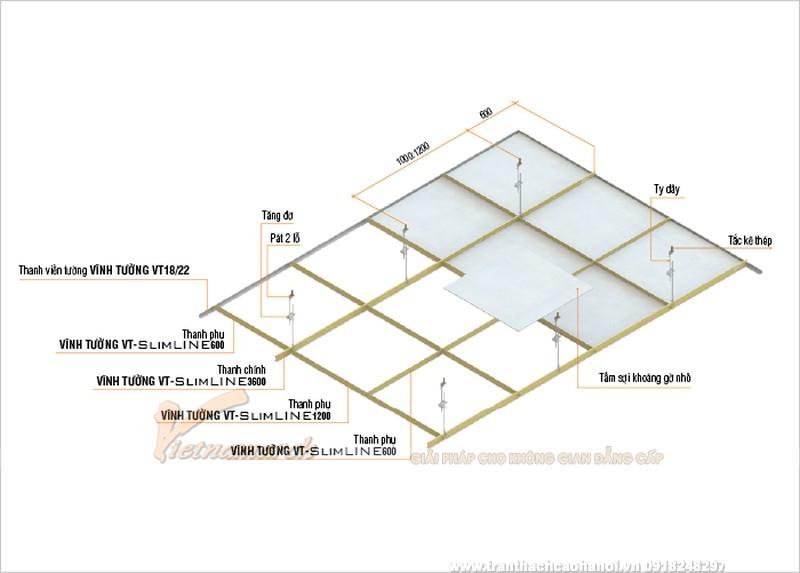 khung trần nổi Vĩnh Tường