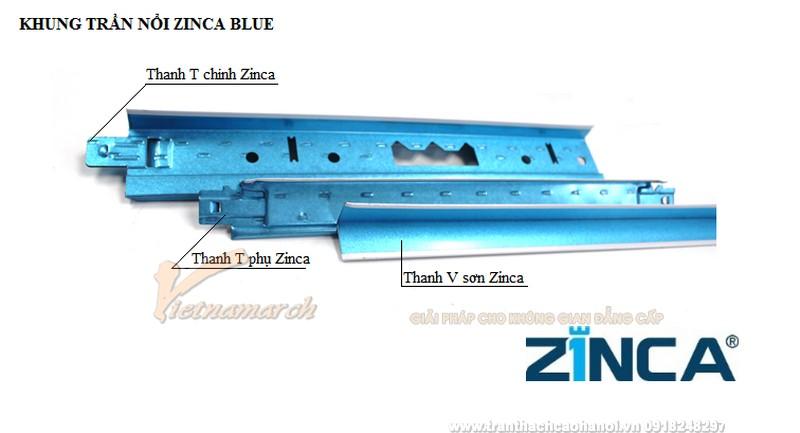 Khung trần nổi Zinca
