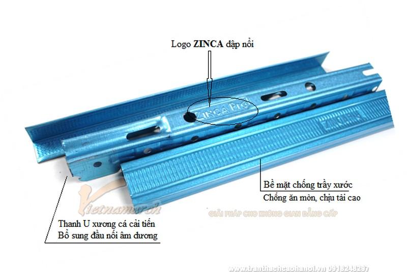 Khung xương Zinca