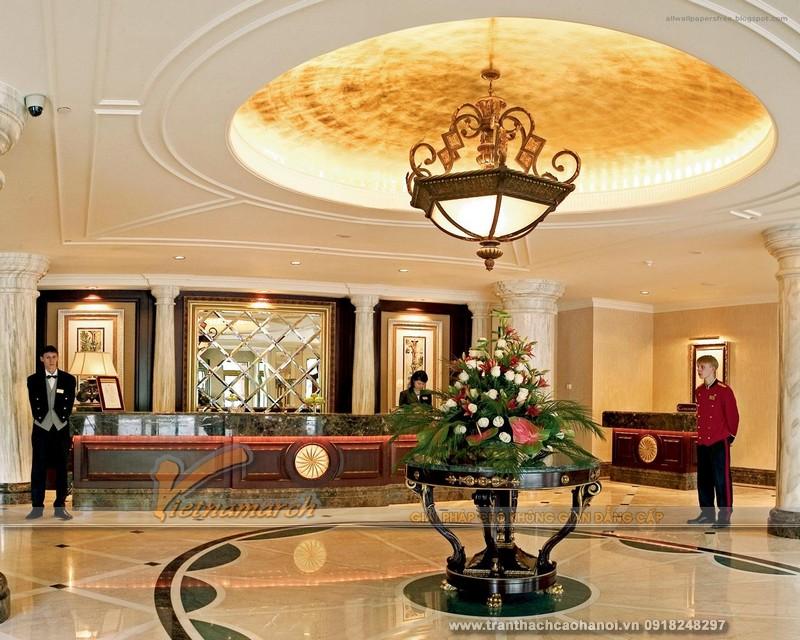 Những mẫu trần thạch cao cổ điển thiết kế cho sảnh khách sạn đẹp nhất