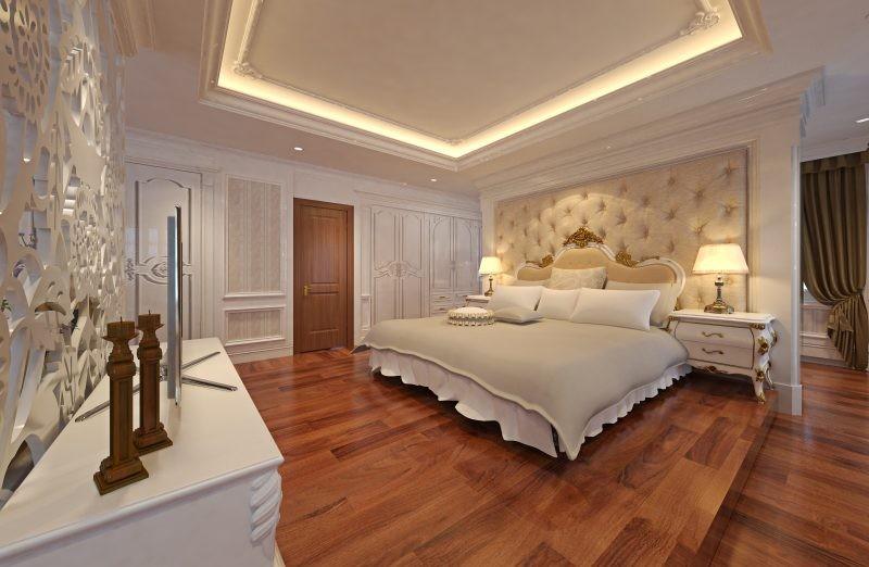 Mẫu trần thạch cao giật cấp phòng ngủ