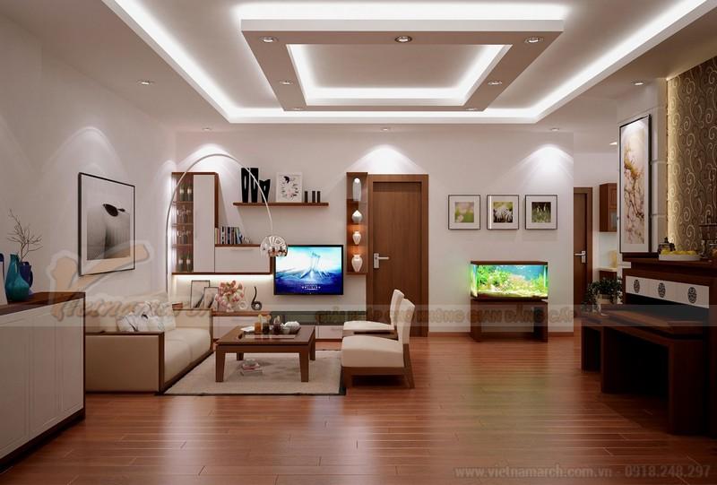 Mẫu trần thạch cao hiện đại cho nhà chung cư