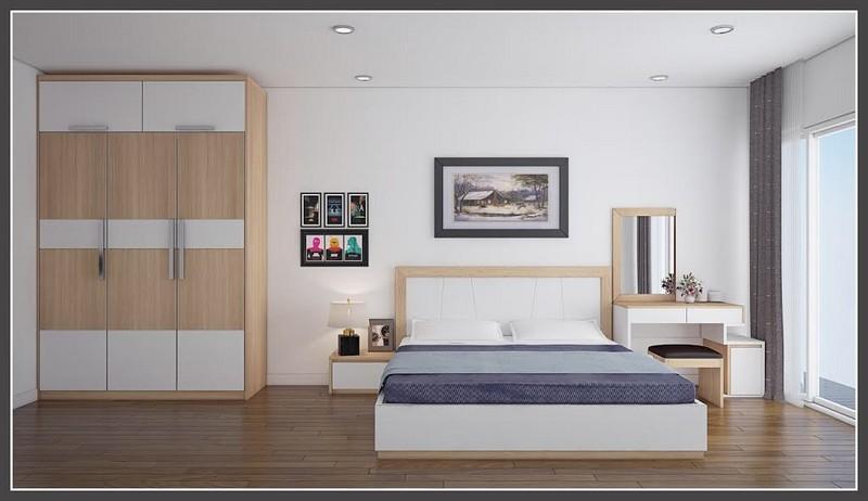 Mẫu trần thạch cao phòng ngủ chung cư