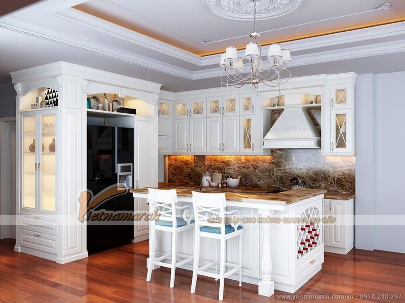 Mẫu trần thạch cao tân cổ điển cho chung cư