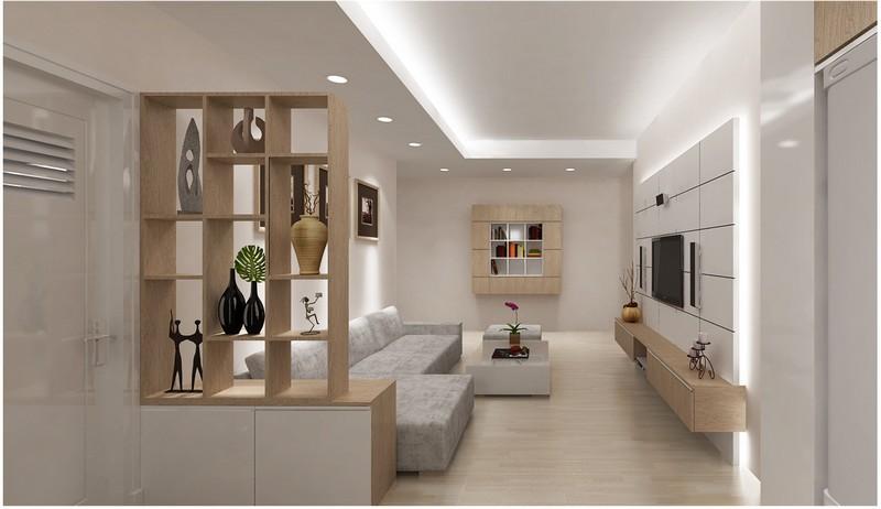 Đèn led âm trần thạch cao cho phòng khách đẹp