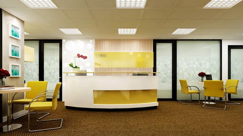 Trần thạch cao cho sảnh văn phòng