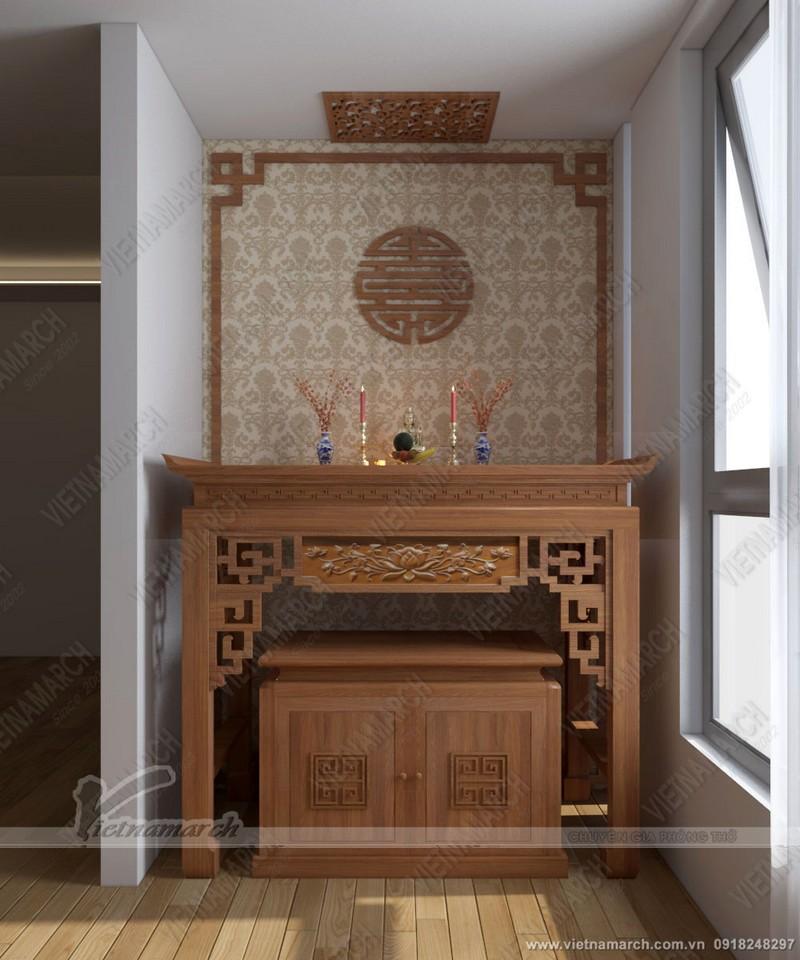 mẫu trần thạch cao phòng thờ đẹp