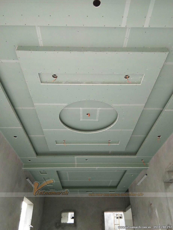 thi công trần thạch cao 150m2 cho nhà anh Mạnh - Linh Đàm