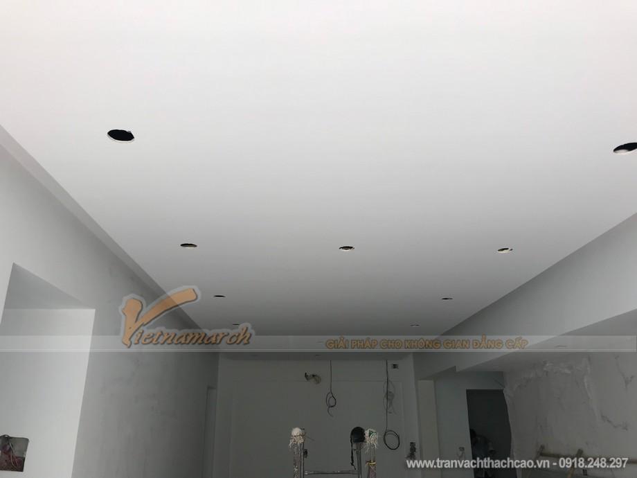 Thi công trần thạch cao chung cư T2 Vimeco Nguyễn Chánh