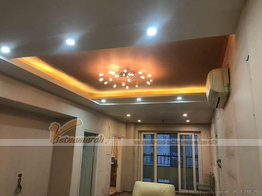 Thi công trần thạch cao chung cư Vimeco 90m2 tại Nguyễn Chánh