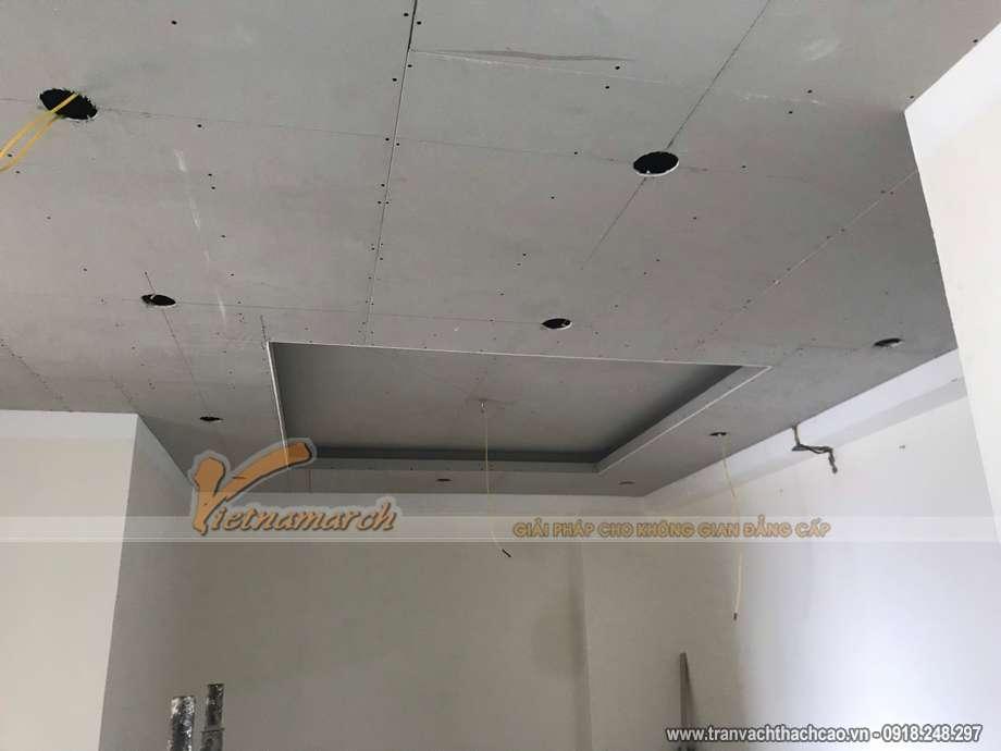 Thi công trần thạch cao tại chung cư C13 Định Công Hạ