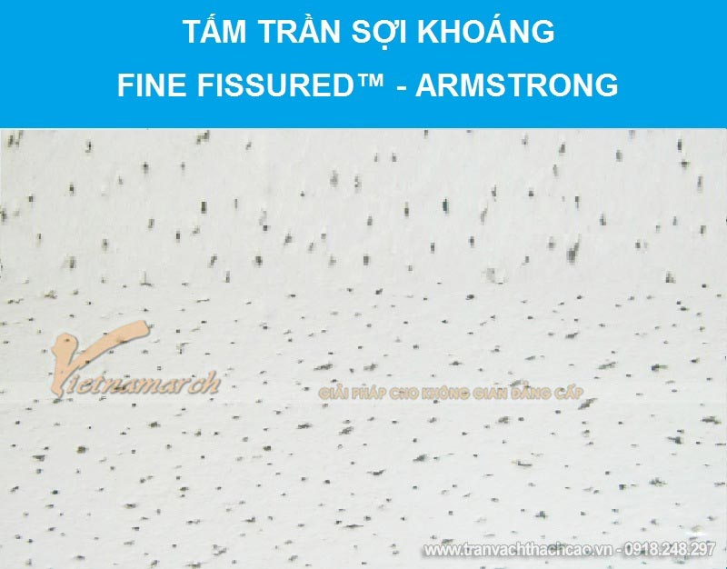 Tấm trần sợi khoáng Fine Fissured™ - Armstrong