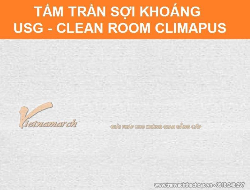 tấm trần sợi khoáng usg clean room climapus